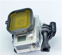 Hot Sale,Gopro Go Pro Underwater Diving UV Lens Filter for GoPro Hero 3+ Plus Red Yellow  Gray Purple Color Free Shipping