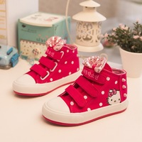 Design 1pair Brand Hello Kitty Children Sneakers high quality Canvas sports shoes, comfortable KID/Girl/boy Shoes