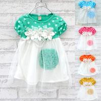New 2014 Summer Clothing Girl Dress Baby Girls Dresses Lovely Dot Princess Dress 5 colors