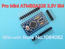Free Shipping ! new version! 5pcs/lot (QFN) Pro Mini 328 Mini ATMEGA328 ATMEGA328P-MU 3.3V/8MHz for Arduino 3.3V 8M(China (Mainland))