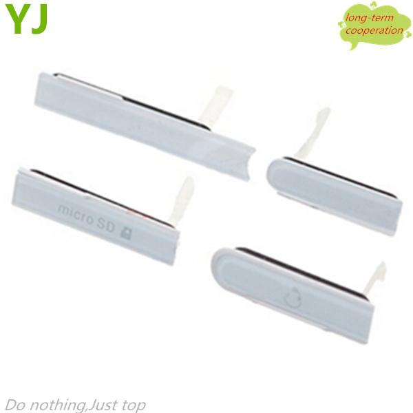 Free shipping SD Card Cap + HDMI Port Cap +USB Port Cap+Earphone Jack Dust Plug for Sony Xperia Z C6603 L36h- White/Black/Purple(China (Mainland))