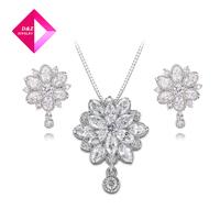 2014 flower earrings + necklace sets,gemstone jewelry,wedding jewelry
