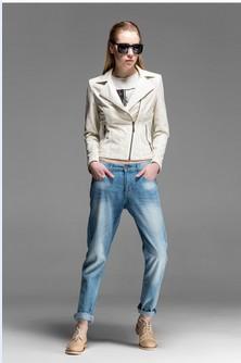 2014 Autumn Pu Plus Size Spliced jaquetas Designal Hollow Punk Ladies' Motorcycle Biker Jackets Women' Faux Leather Coats 51470(China (Mainland))