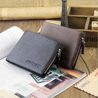 2014 fashion mochila infantil single open multi-card bit purse brand embossed desigual wallet zipper men wallets
