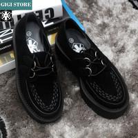 5 cm Heels EUR 34~43 Original AOD 2014 HARAJUKU Style ViVi New  Women Round Toe Creepers Fashion Creeper Shoes Men Women 158-1