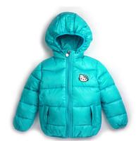 2015 new Hello Kitty Girl's Winter jackets hooded children's Coats winter warm Outerwear & Coats 100% cotton-padded jackets