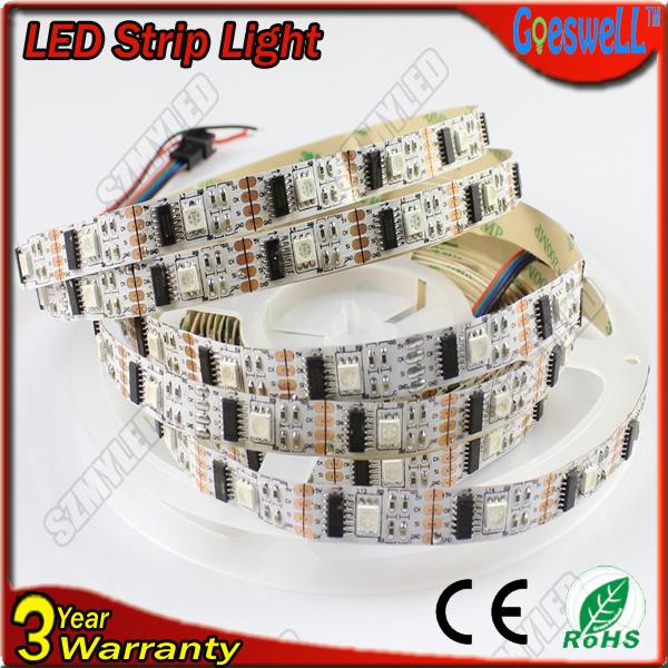 Non-waterproof IP22 RGB LED Strip Wholesale 15m/lot WS2801 IC 32leds/M LED Strip Magic Color Flexible Strip Light(China (Mainland))