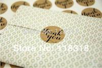 (1 Lot =240 Pcs) 3.8 CM DIY Scrapbooking Kraft Paper Thank You Labels Envelopes Stickers handmade Seals Sticker