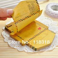 (1 Lot=2 Sets=90 Sheets) DIY Scrapbooking Kraft Paper Vintage Mini Envelopes Creative Notepad Memo Pad