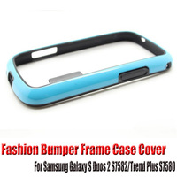 Fashion Ultrathin Bumper Frame Case Cover For Samsung Galaxy S Duos 2 S7582/Trend Plus S7580