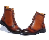 new 2014 High quality Genuine Leather 100% cowhide Autumn winter shoes ankle boots women,female fashion Martin shoe 6877