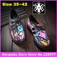 5 cm Heels EUR 35~42 Branded AOD Women Goth Punk Harajuku Graffiti Creepers Platform Shoes Goth Punk Street Boat Shoes