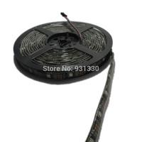 Free shipping dc 5v 5m waterproof ip65 black pcb ws2801 led strip,ws2801 ic control 5050 smd rgb led,programmable led strip