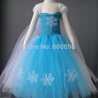 New summer frozen dress baby fashion frozen costume elsa frozen dress baby dress KP-FTU002