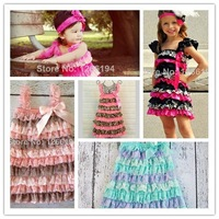 2014 Little Girl Holiday Dress Bubblegum Pink Lace Pageant Dress Petti  TutuDress For Kids Girl Free Shipping