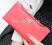 Hot 2014 High quality leather women wallets woman messenger bag women's design wallet change purse for women FREE shipping
