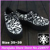 Big discount Clea stock!! 5 cm Heels EU 35~39 AOD 2014 Women Harajuku Creepers Platform Shoes Flats Heel Boat Shoes woman