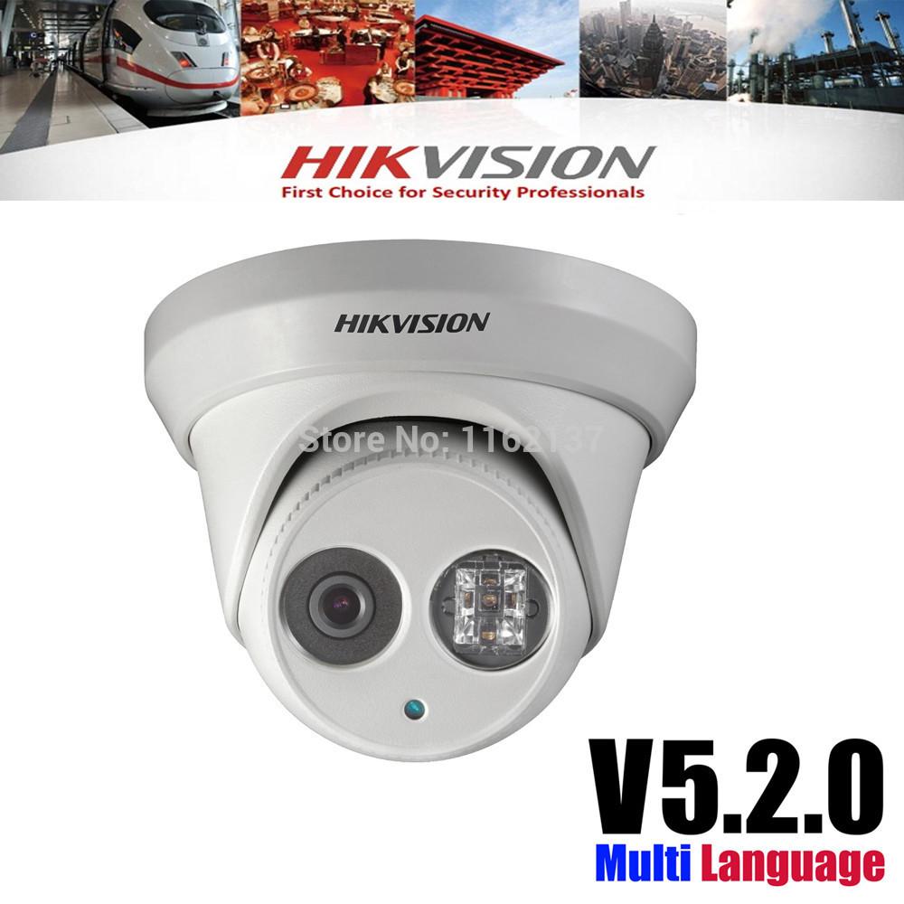 2014 hikvision expédition rapide du réseau cctv caméra de sécurité d'origine ds- 2cd2332- je 3mp ir caméra dôme ip poe soutien