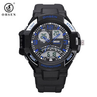 Top Brand Luxury OHSEN MEN&WOMEN Quartz Diving Watch,Sports Analog-Digital Water Resistant Watch,UNISEX Fashion Watch,5ATM watch