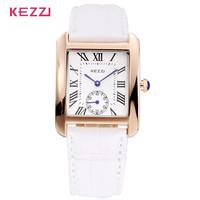 AW-SB-931 High Quality KEZZI K-839G Brand Quartz Watches Unisex Genuine Leather Strap Watches