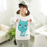 Hot sale 19-color New Women Clothing Ladies Long Sleeve printing Sweatshirt Tops hoody Autumn Cotton blend Fashion hoodies P086