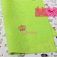 2014 new arrival lace fondant mold,sugar lace silicone pad,wedding cake,flower shaping fondant mat