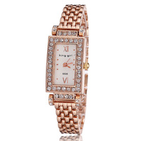 Watch Woman luxury rose gold watches women rhinestone Wristwatches ladies fashion quartz wristwatch Reloj Famous Brand