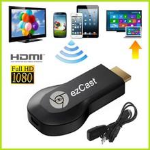 2014 Chromecast Google Android 1080 P Hdmi Ezcast зеркального функции и нажатие часовой контента для Tv box Wifi приемник ключа