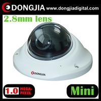 "free shipping DA-IP3134HD 2.8mm Lens 2.5"" Mini Dome Vandalproof 720p ip camera"