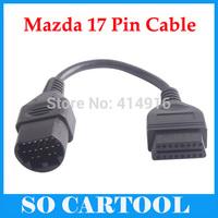 Mazda 17 Pin 17Pin Male to OBD2 OBDII 16 Pin 16Pin Female Converter Cable