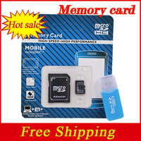 Classical Blue 64GB Memory card Micro SD card 32GB class 10 16GB 8GB 4GB128MB Microsd TF card  + Adapter + Free Reader hot sale