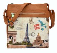 New 2014 women handbag women PU leather handbags cross body shoulder bags women messenger bags Eiffel Tower