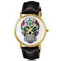 MO5964 Women's dress watches Fashionable Skull Pattern Design Analog Wrist Watch quartz watch waterproof
