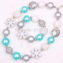 1 set Girl Chunky Necklace set Bubblegum Necklace bracelet Baby Chunky Necklace of Children jewelry gift free shipping(China (Mainland))