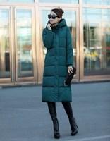 2014 New Women Winter Coat Fashion Winter Korean Style Women Long Thicken Down Cotton Plus Size Outerwear Overcoat YS8438