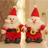 Santa Claus doll Christmas decoration gift green plush toys dolls ornaments