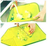 Multifunctional foldable drain and plastic cutting board cutting chopping board kitchen suppliesFree Shipping