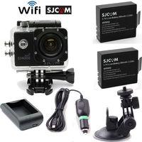 Free Shipping!SJCAM SJ4000 Wifi Helmet Dash Camera DVR+Free 1 Battery+Home/Car Charger+Bracket