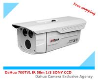 Free shipping DaHua 700TVL 1 / 3 SONY CCD security camera IR 50 m infared  CCTV IP66 Bullet camera outdoor camera
