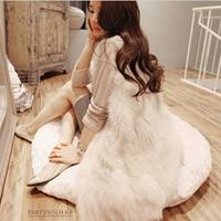 2014 New arrival!!! Free Shipping Autumn and winter faux vest fox fur vest slim fur coat women winter vest S-XXXL NWT033