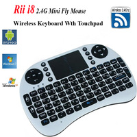 Portable Wireless Keyboard Rii i8 2.4G Fly Air Mouse with Touchpad for Andriod TV Box IPTV HTPC Mini PC Receiver Tablet  Laptop