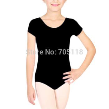 2014 новые дети девочки Dancewear с коротким рукавом балетный костюм боди купальники хлопок балета одежда комбинезоны для детей