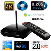Bluetimes RK3288 Android 4.4 Quad Core Cortex A17 1.8GHz TV BOX 4K x 2K HDMI2.0 Media Player 2G/8G Bluetooth4.0 5G Wifi