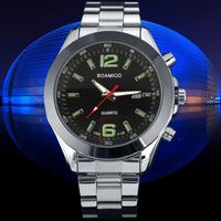 BOAMIGO brand Watches Men military sports fashion casual full steel band wristwatches men  quartz watch relogio masculino F52