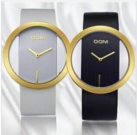 DOM brand simple Minimalist fashion women dress watches casual sapphire ladies wristwatch elegant analog leather strap watch