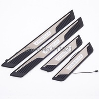 4pcs Car Door Sill Illuminated LED Foot Protector Scuff Plate For Toyota 11th Corolla 2013 2014