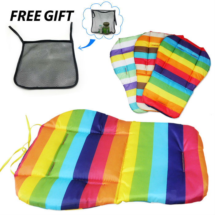Hot Sale Thicken Cotton Waterproof Rainbow Cotton Pad Seat Cushion Baby Dinning Chair Baby strollers accessories Cushion Pillows(China (Mainland))