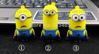 2014 Cartoon creative Cute little yellow man USB flash drive Despicable me God steal dads memory USB flash drives pen drive