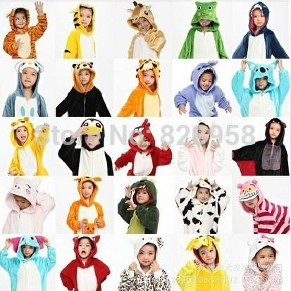 20 Style 2 11 years old Winter Children Flannel Animal pajamas 1 Piece Kid Pajamas Clothes
