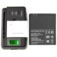 New Original Battery BL-53QH & Charger For LG Optimus 4X HD P880 2150 mAh